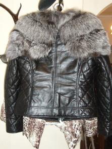 Кожаные куртки с мехом чернобурки и.