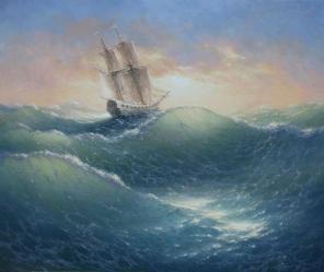 Пейзаж натюрморт море морской